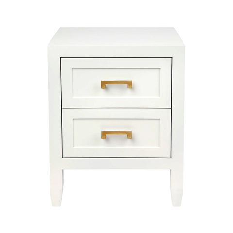 Soloman Bedside Table - Small White