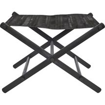 Directors Stool - Black Leather