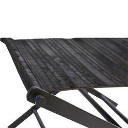 Directors Stool - Black Leather
