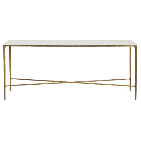 Heston Marble Console Table - Large Brass