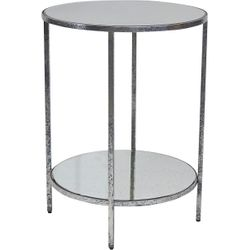 Cocktail Side Table - Silver Leaf