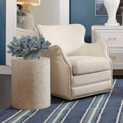 Autumn Swivel Occasional Chair - Ivory Linen