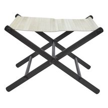 Directors Stool - White Leather