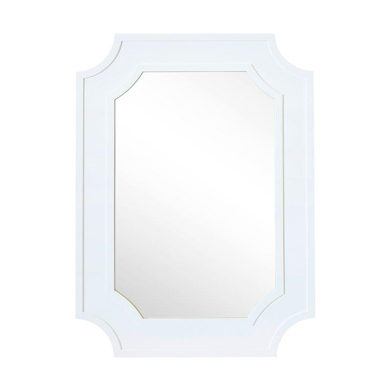 Bungalow Wall Mirror - White