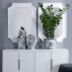 Bungalow Wall Mirror - White