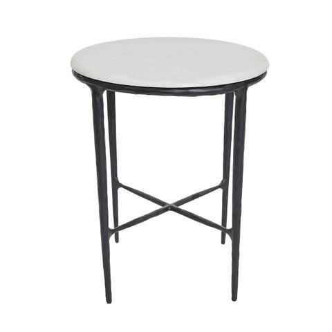 Heston Marble Side Table - Black