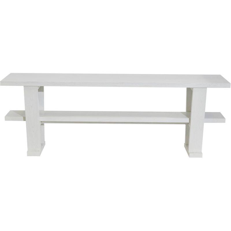Blaine Oak Console Table - White