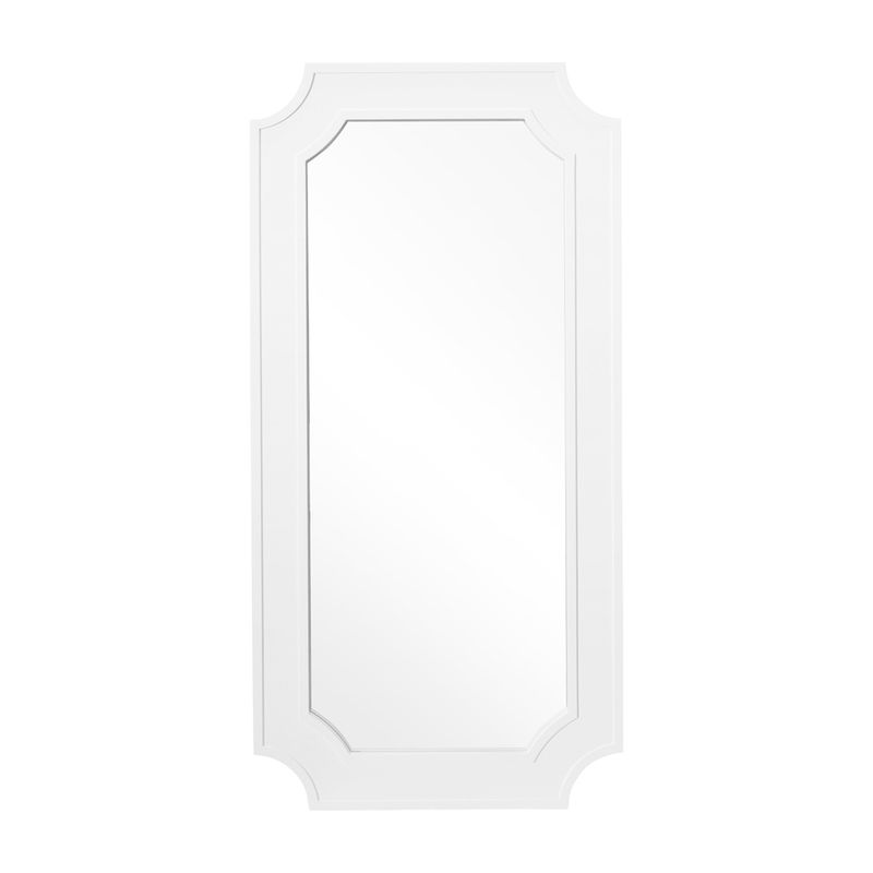 Bungalow Floor Mirror - White