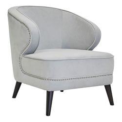 Hallie Occasional Chair - Grey Velvet
