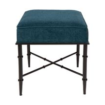 Hacienda Stool - Teal Chenille