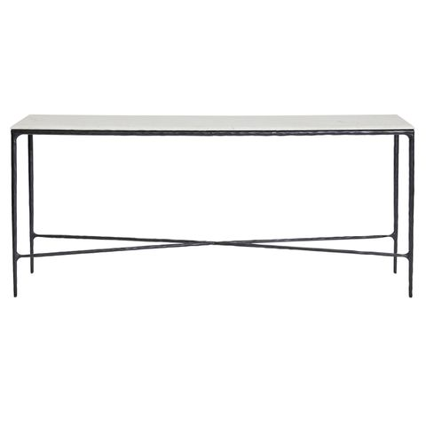 Heston Marble Console Table - Large Black