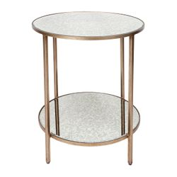 Cocktail Side Table - Antique Gold