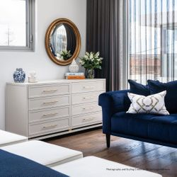 Pearl 8 Drawer Chest - Grey