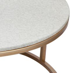 Chloe Stone Nesting Coffee Table - Antique Gold