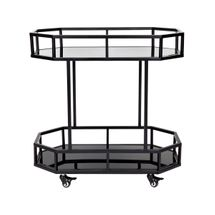 Brooklyn Mirrored Drinks Trolley - Black