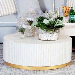 Makayla Bone Inlay Coffee Table - Natural