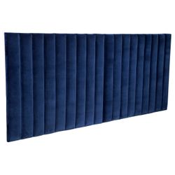 Broadway Tufted Queen Bedhead - Navy Velvet