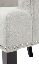 Bentley Dining Arm Chair - Grey Linen