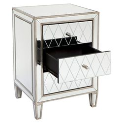 Krystal Mirrored Bedside Table