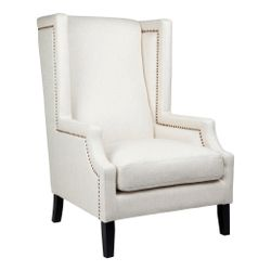 Emperor Wing Back Occasional Chair - Natural Linen