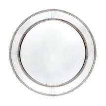 Zeta Wall Mirror - Round Antique Silver