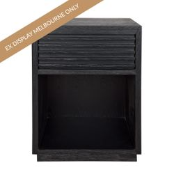 Bahama Oak Bedside Table - Black