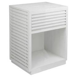 Bahama Oak Bedside Table -  White