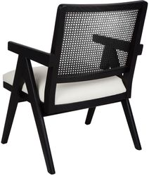 The Imperial Rattan Occasional Chair - Black/White