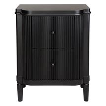 Arielle Bedside Table - Black