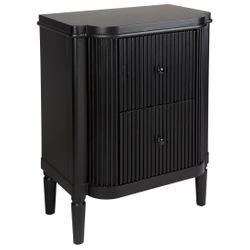 Arielle Bedside Table - Black