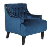 Skyler Tufted Occasional Chair - Navy Velvet