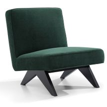 Martyn Slipper Chair - Forest Green Chenille