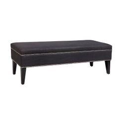 Manhattan Bench Ottoman - Charcoal Linen