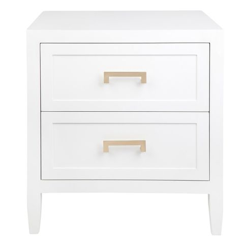 Soloman Bedside Table - Large White