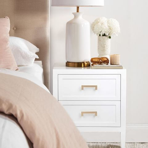 Soloman Bedside Table - Large White