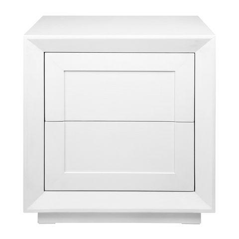 Balmain Tall Bedside Table - White