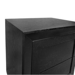 Balmain Oak Tall Bedside Table - Black