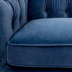 Tuxedo 3 Seater Tufted Sofa - Navy Velvet