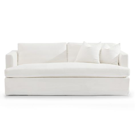 Birkshire 3 Seater Slip Cover Sofa - White Linen