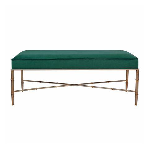 Clara Ottoman - Emerald Green