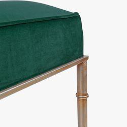 Clara Bench Ottoman - Emerald Green Velvet