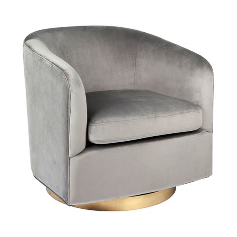 Belvedere Swivel Occasional Chair - Charcoal
