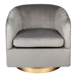 Belvedere Swivel Occasional Chair - Charcoal Velvet