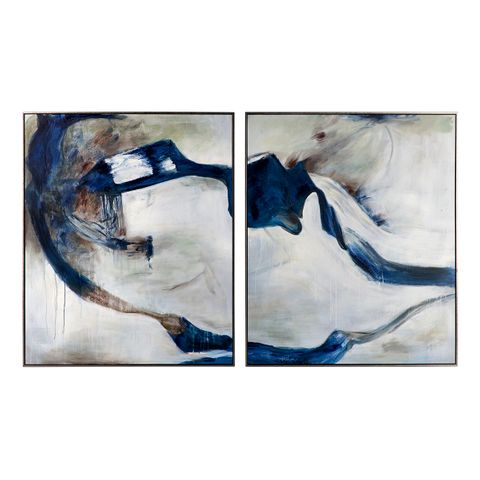 Midnight Summer Hand Painted Art - Set of 2