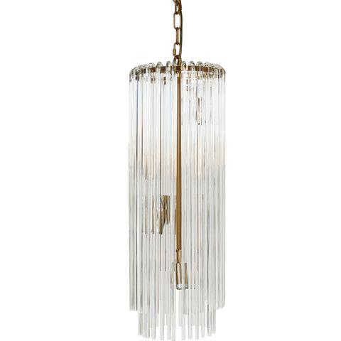 Zara Pendant - Long Brass