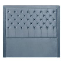 Blair Button Tufted Queen Headboard - Dove Grey