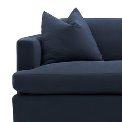 Birkshire 3 Seater Slip Cover Sofa - Navy Linen