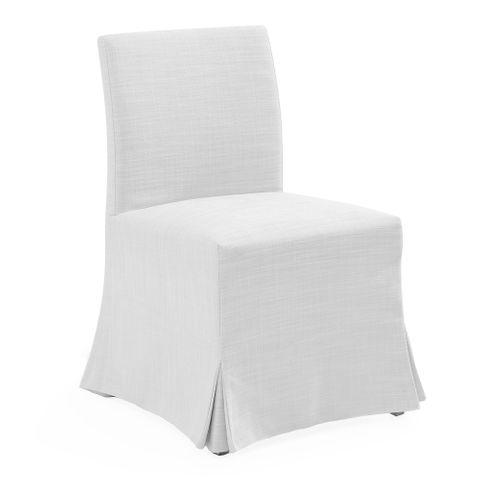 Brighton Slip Cover Dining Chair - White Linen