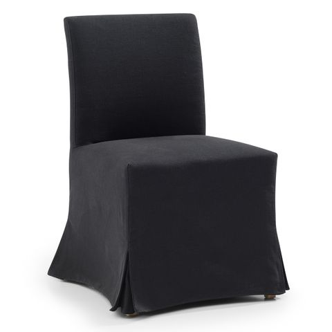 Brighton Slip Cover Dining Chair - Black Linen
