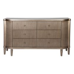 Arielle 6 Drawer Chest - Antique Gold